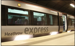 Heathrow Express Underground train