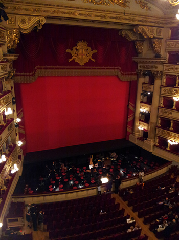 view from the gallery seats at Teatro alla Scala