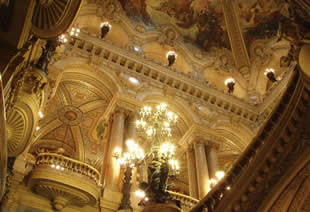 Ceiling of the Palais Garnier Opera House in Paris
