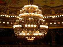 Opera garnier paris opera performances reviews information photo of chandelier in palais garnier paris opera aloadofball Images